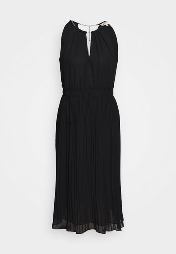 CHAIN NECK MIDI DRESS - Cocktail dress / Party dress - black