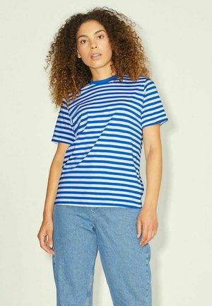 Print T-shirt - light blue  off white