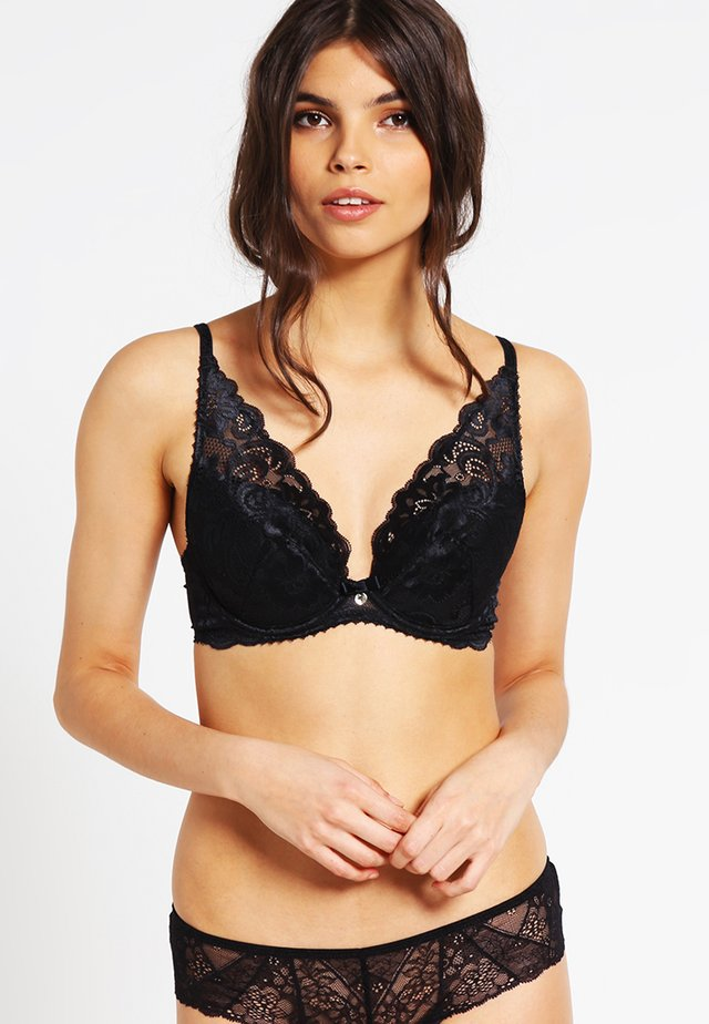 GYPSY HIGH APEX PLUNGE BRA - Push up-bh - black