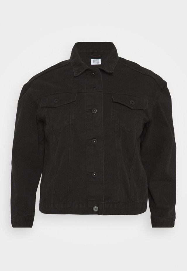 CURVE BAGGY JACKET - Denim jacket - black