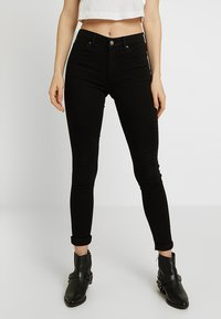 Topshop - LEIGH NEW - Jeans Skinny Fit - black - 0