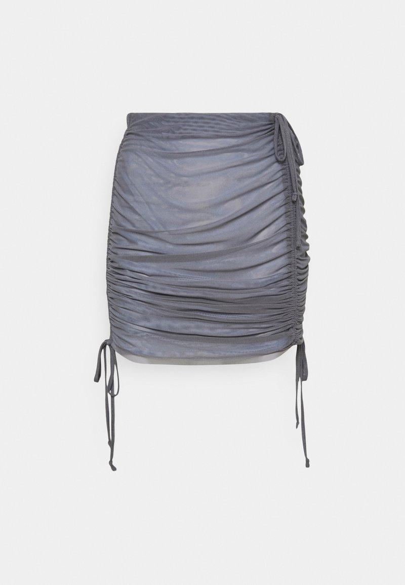 Weekday - BREEZE SHORT SKIRT - Minirok - solid grey