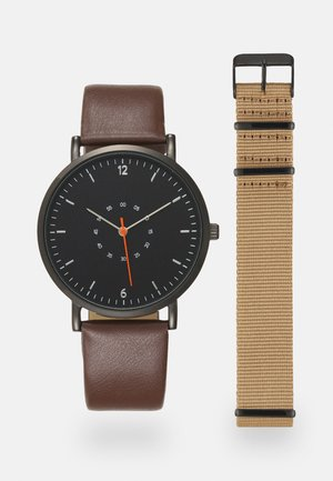 SET - Watch - dark brown/beige