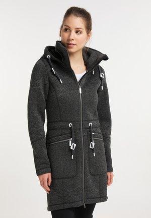 Krátký kabát - dunkelgrau melange
