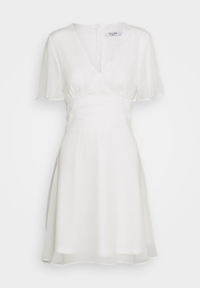 MARKED WAIST MINI DRESS - Robe d'été - white
