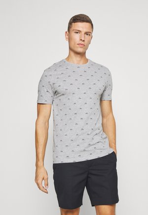 T-shirt med print - mottled grey