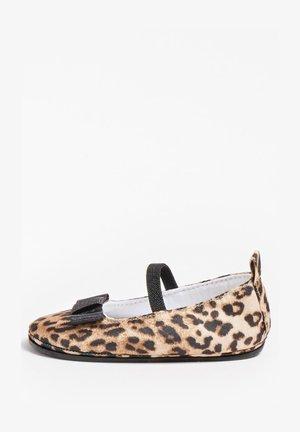 Ankle strap ballet pumps - animalier