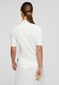 KARL LAGERFELD - RHINESTONES MOCK - Pullover - white - 2