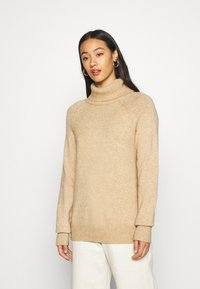 Vila - VIRIL COWL NECK - Jumper - beige - 0