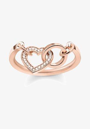 TOGETHER HERZ - Ring - rose gold-coloured
