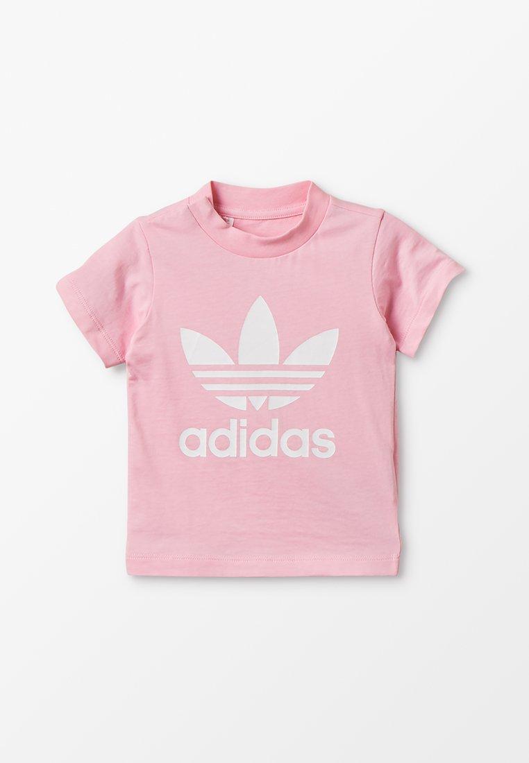 adidas Originals - TREFOIL UNISEX - T-shirt con stampa - pink/white