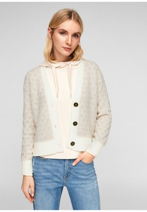 Cardigan - beige knit