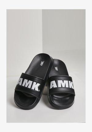AMK SLIDES - Rantasandaalit - blk wht