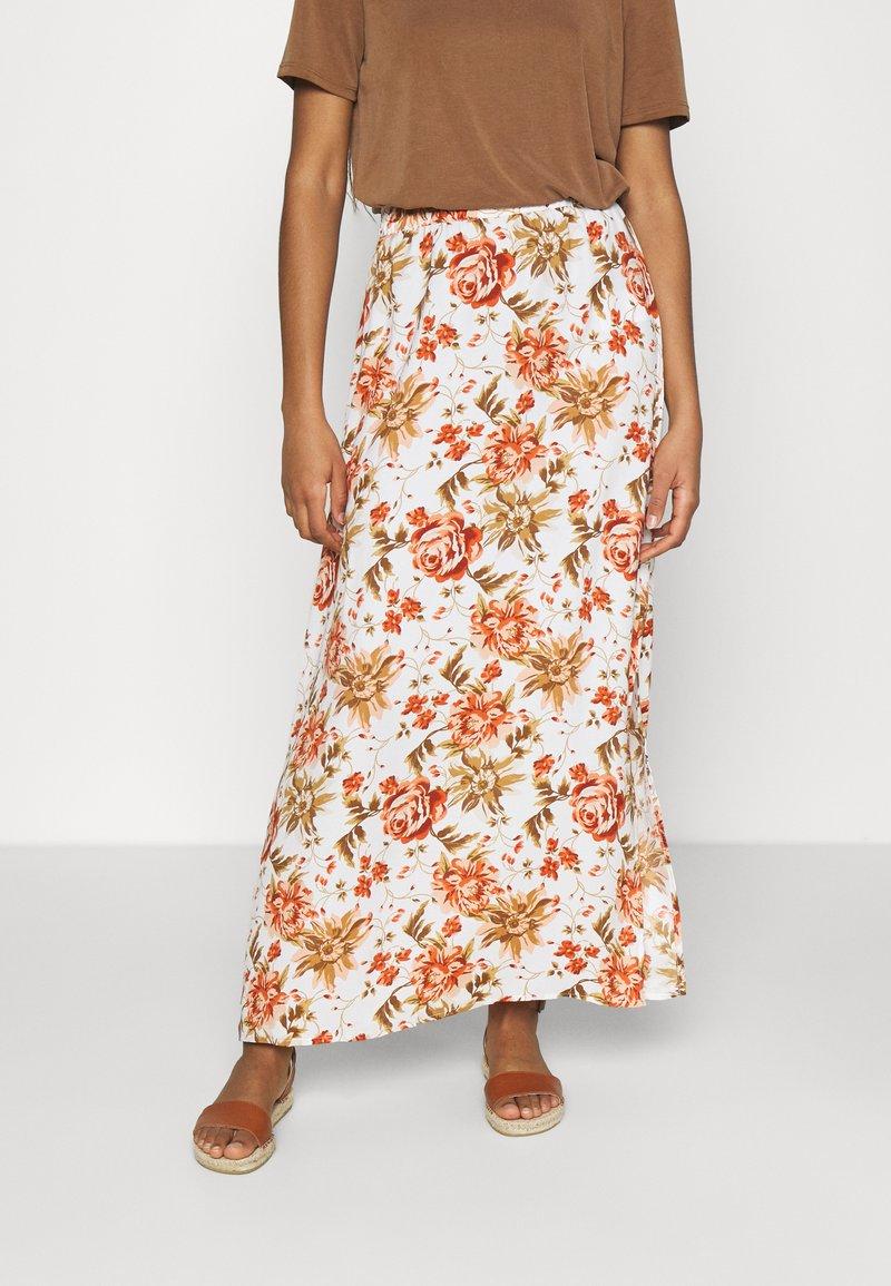 Vila - VIWAW RUA  SKIRT - Maxi skirt - snow white