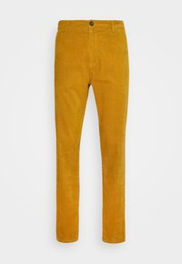 CORD TROUSERS - Trousers - dark yellow