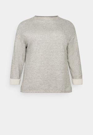 STAND  UP COLLAR - Jumper - desert sand melange