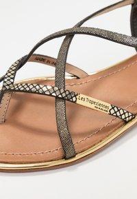 Les Tropéziennes par M Belarbi - MONACO - T-bar sandals - black/gold - 2