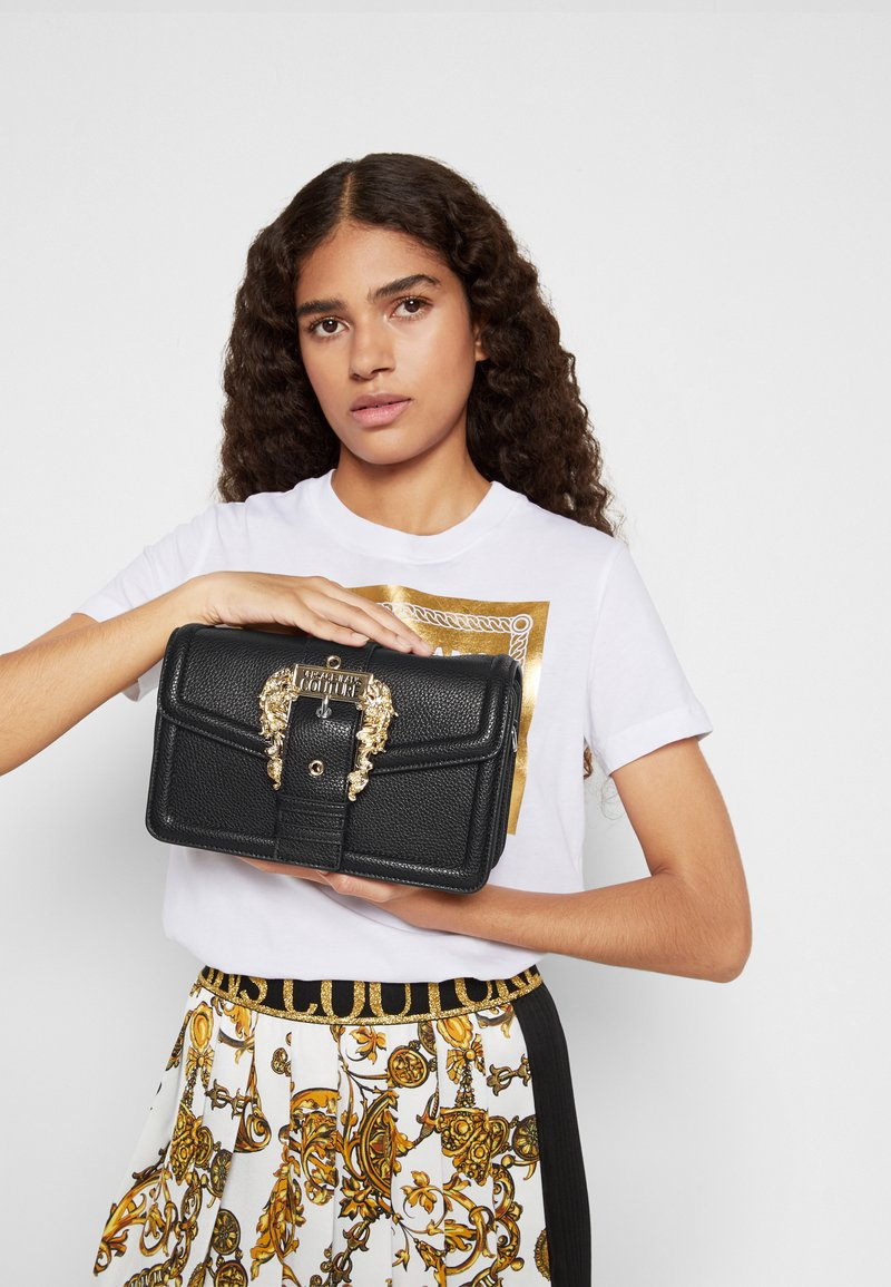 Versace Jeans Couture - BUCKLE SHOULDER BAG - Across body bag - nero