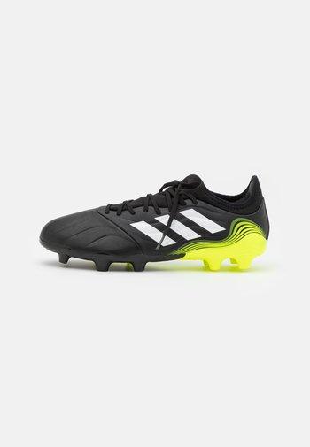 COPA SENSE.3 FG - Moulded stud football boots - core black/footwear white/solar yellow