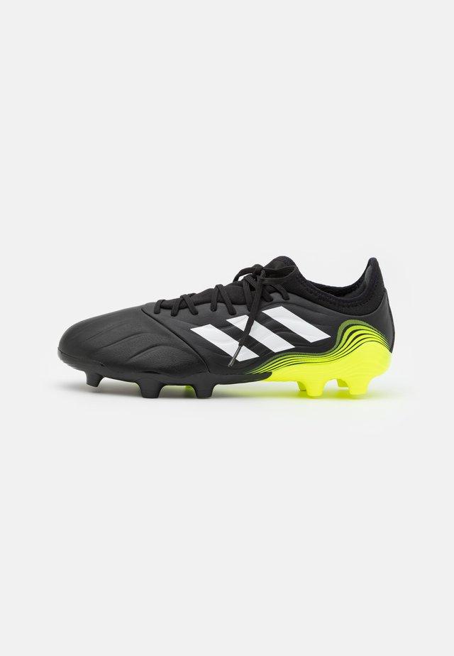COPA SENSE.3 FG - Voetbalschoenen met kunststof noppen - core black/footwear white/solar yellow