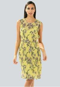 Alba Moda - Day dress - gelb,flieder - 0