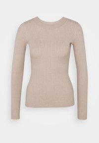 Anna Field - BASIC- RIBBED JUMPER - Pullover - gray tan - 3