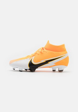 MERCURIAL  7 PRO FG - Moulded stud football boots - laser orange/black/white