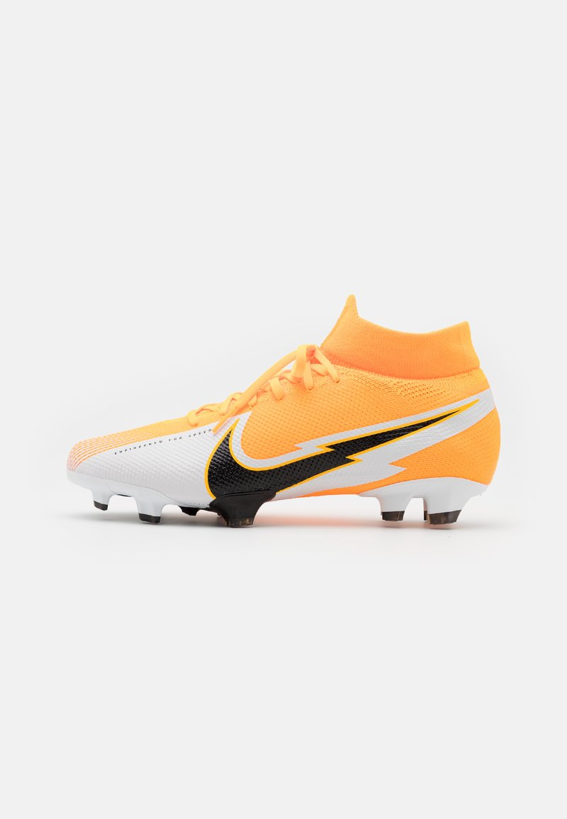 Nike Performance - MERCURIAL  7 PRO FG - Fotbollsskor fasta dobbar - laser orange/black/white