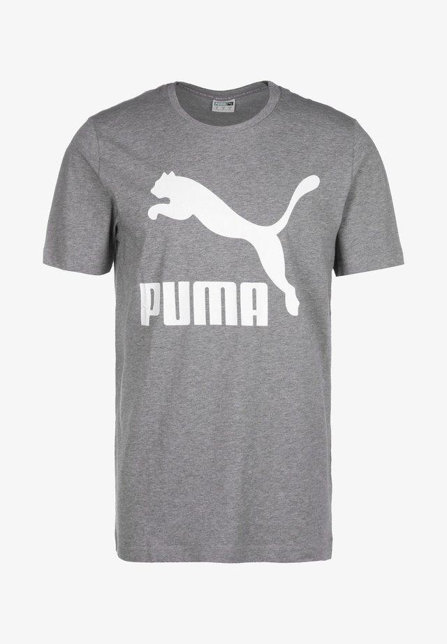Print T-shirt - medium gray heather