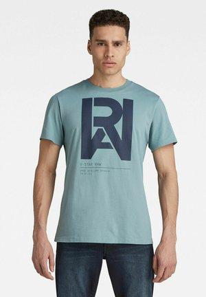 Print T-shirt - light bright nickel