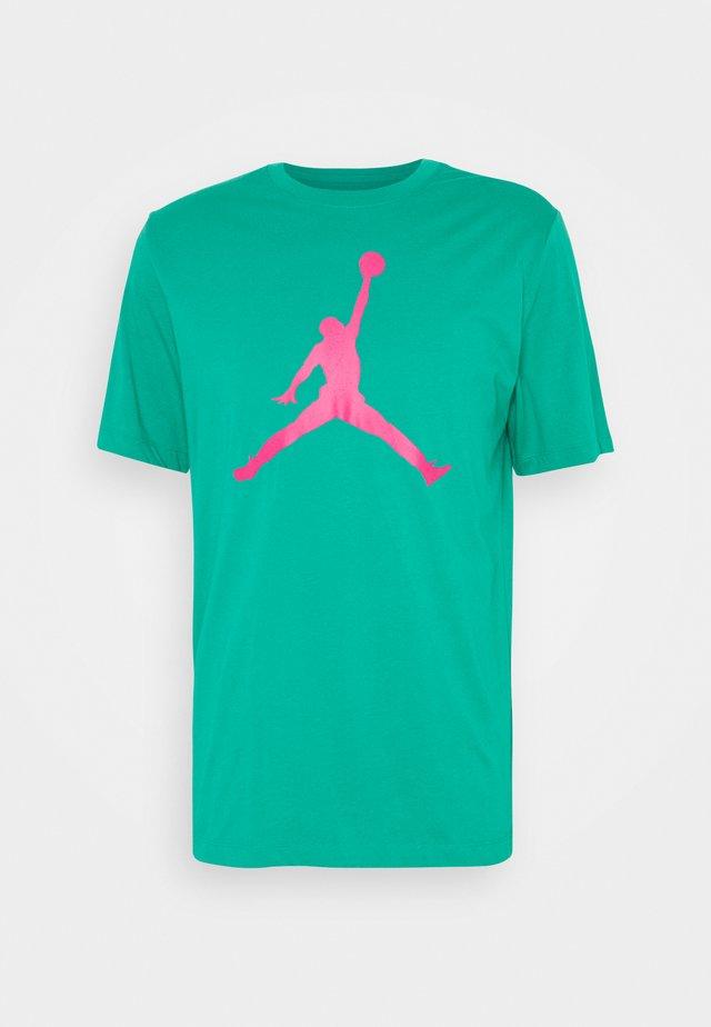 JUMPMAN FILL CREW - Camiseta estampada - neptune green