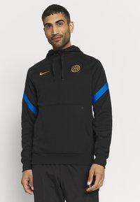 Nike Performance - INTER MAILAND HOOD - Club wear - black/blue spark/truly gold - 0