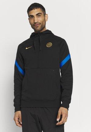 INTER MAILAND HOOD - Club wear - black/blue spark/truly gold