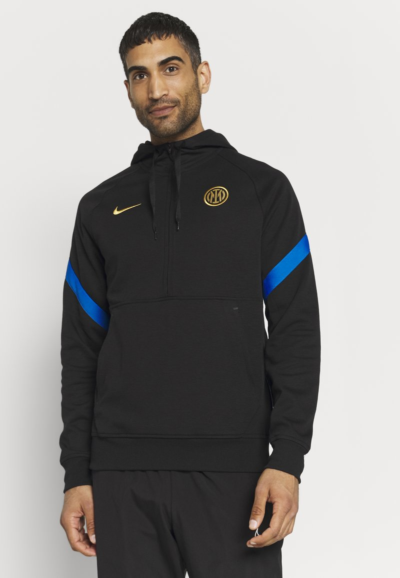 Nike Performance - INTER MAILAND HOOD - Club wear - black/blue spark/truly gold