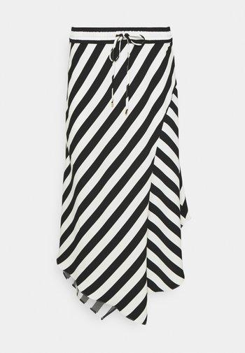 HANIF SKIRT - Áčková sukně - white/black