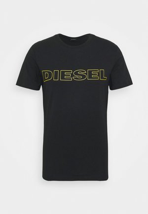 JAKE - T-shirt imprimé - black/yellow