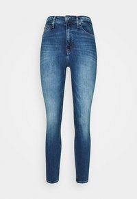 Calvin Klein Jeans - HIGH RISE SUPER SKINNY ANKLE - Jeans Skinny Fit - bright blue - 4