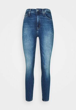 HIGH RISE SUPER SKINNY ANKLE - Jeans Skinny Fit - bright blue