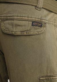 INDICODE JEANS - WILLIAM - Pantaloni cargo - army - 3