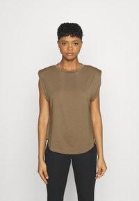 Good American - STRONG SHOULDER TANK - Basic T-shirt - taupe - 0