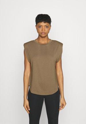STRONG SHOULDER TANK - Basic T-shirt - taupe