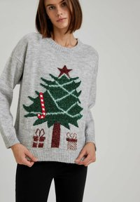 DeFacto - CHRISTMAS JUMPER - Jumper - grey - 0