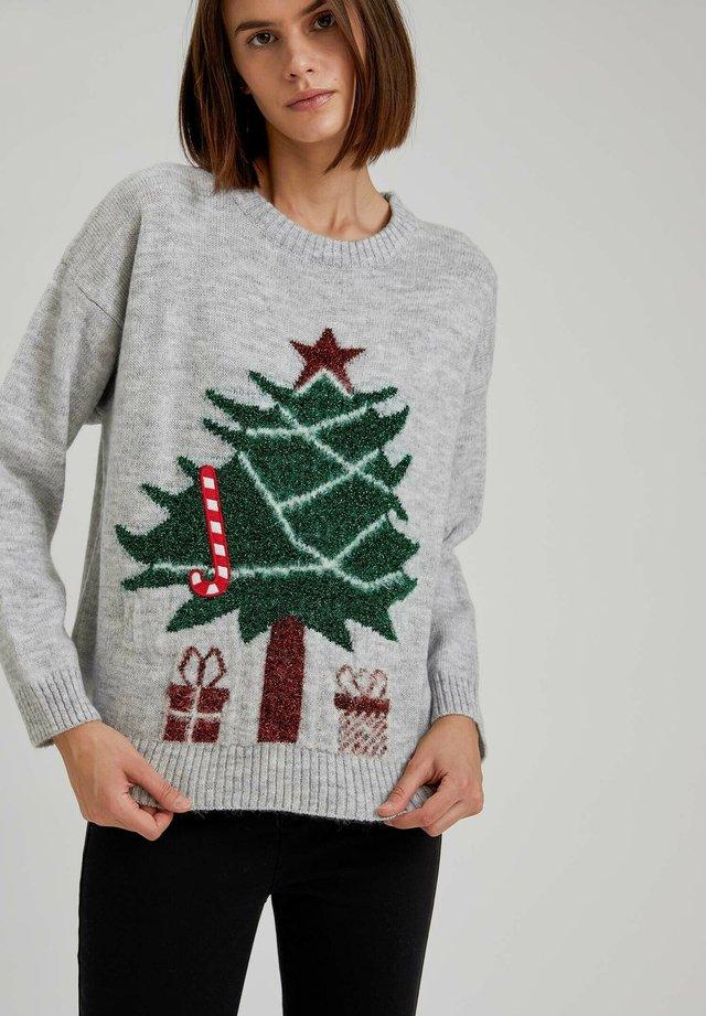 CHRISTMAS JUMPER - Maglione - grey