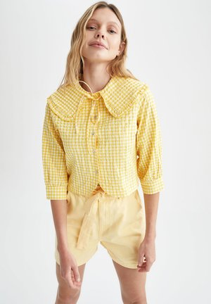 CROPPED FIT  - Camicia - yellow