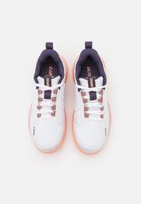 K-SWISS - ULTRASHOT 3 - Multicourt tennis shoes - white/peach nectar/graystone - 3