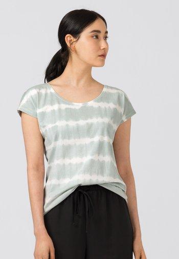 Print T-shirt - zartblau