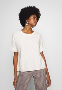Marc O'Polo DENIM - SHORT SLEEVE FABRIC PATCH AT BACKSIDE - Blouse - cheesecake - 0