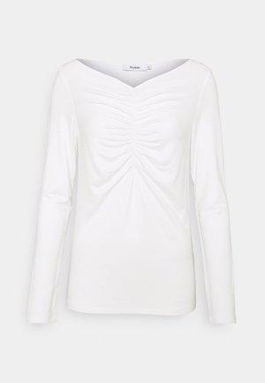 CASSIS - Top sdlouhým rukávem - white