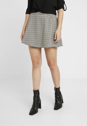 ONLLENA ROSIE CHECK SKIRT - A-line skirt - grape leaf/w. black/cream pink