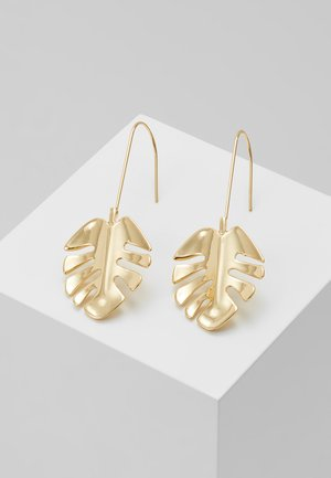 HYDE LEAF PENDANT EAR PLAIN - Earrings - gold-coloured